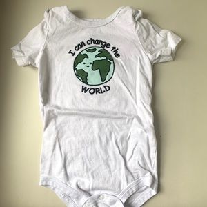 I can change the world onesie